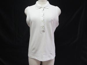 #snc バーバリー BURBERRY ポロシャツ M 白 ノースリーブ レディース [626268]