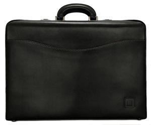 新品同様 ダンヒル ビジネスバッグ ブリーフケース 書類鞄 アタッシュケース ダイヤルロック式 レザー ブラック ブラック 訳あり メンズ