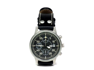 ラコ 腕時計 Laco 時計 クロノグラフ メンズ ウォッチ デイデイト ETA7750 自動巻 裏スケルトン メンズ ブラック 黒