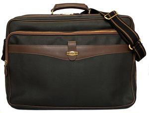 美品 ダンヒル 2WAY ガーメントケース 旅行用 バッグ 出張用 ブリーフケース dunhill ビジネスバッグ グレー ブラウン PVC レザー メンズ