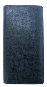 ルイヴィトン 長財布 ポルトフォイユ ブラザ タイガ オセアンブルー 青 M32816 メンズ LV ビトン 財布 二つ折り長財布 レザー