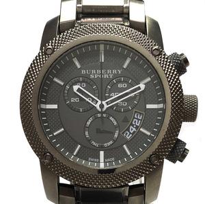 BURBERRY バーバリー スポーツ メンズ 腕時計 ブラック文字盤 ヘリテージ BU7716 ラウンド クォーツ BU7716 クロノグラフ 時計 ステンレス