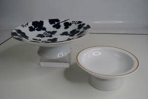 ki409 * height cup /2 point set / ceramics / Japanese food also Western food also / platter / pastry plate / deep river made /PATRA