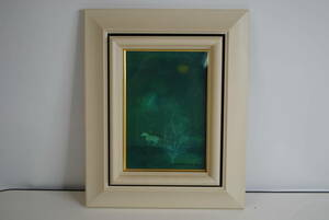 ki932-② * picture frame / oil painting / horse / whole surface glass board / wall interior / simple / ornament / decoration / landscape painting / stylish