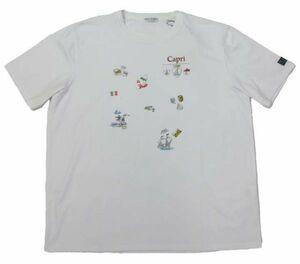 【durini】Others CAPRI カプリ 夏物 大特価◆70%OFF◆マリンプリントTシャツ アンカー クルーネック 半袖 綿100% ゆったり/ホワイト/48(L)