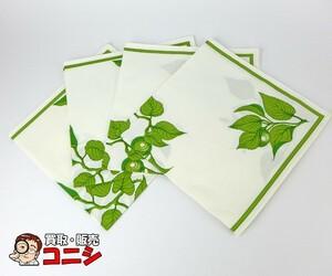 [ Kobe. pawnshop ][HERMES/ Hermes ] place mat 4 point set white × green cotton 100% brand miscellaneous goods [ free shipping ]f0800b