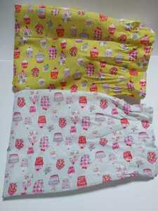 スイーツ柄 生地 2種類 キャンディ型 ポリエステル100パーセント セット★未使用★