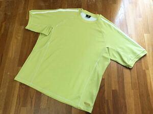 X united エックスユナイテッド ドライシャツ xunited メンズ M ジム トレーニング ランニング ジョギング スポーツ 黄緑色 イエロー