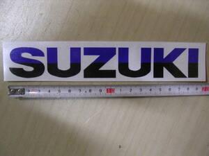 スズキ SUZUKI タンク カウル ステッカー デカール ロゴマーク ツートン 青黒 19cm RG TS カタナ GSX GS ハスラー