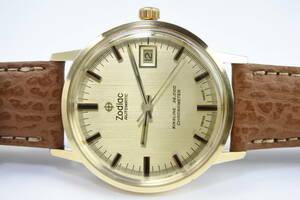 ☆☆☆スイス歴史誇る老舗 1970年代Zodiac クロノメーター Kingline 36000 自動巻紳士腕時計 ハック機能 高級名機 希少美品