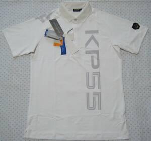 カッパ Kappa COLLEZIONE ITALIA ゴルフ用高機能ポロシャツ 白色 サイズ L 軽量/吸水速乾/ストレッチ/消臭抑制/UV機能 定価 15,400円