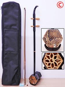 ♯C 上海二胡 中国二胡 二胡 蛇皮 弓・ソフトケース付き!! 中国伝統民族楽器 中国上海 上海民族楽器