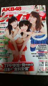 週刊プレイボーイ 2013年8月19日発売 AKB48 TOP3特大両面ポスター付き 未使用品 佐野ひなこ 貴重雑誌