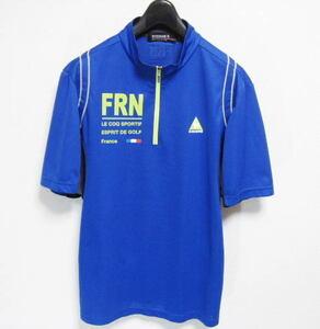 ルコックゴルフ ハーフジップ 吸汗速乾 半袖シャツ Lサイズ le coq sportif GOLF COLLECTION