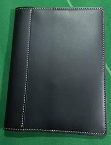 □SOMES ソメスサドル レザー製 文庫サイズ ブックカバー マットブラック 美品!!!□