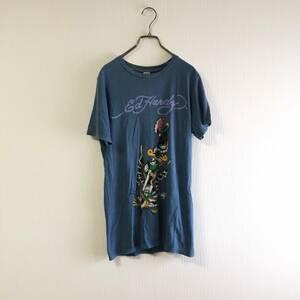 Ed Hardy エドハーディー 半袖 ロゴ Tシャツ メンズ トップス サイズS USA製