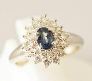 2885 ☆ PT900 Platinum Alexandrite 0.50CT Diamond 0.62CT Ring No. 8 Ladies