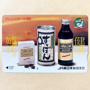 【使用済1穴】 オレンジカード JR東日本 健康姉妹。