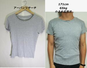 【メンズ】アーバンリサーチ霜降りTシャツ/ブランドシンプルグレイ無地便利♪M