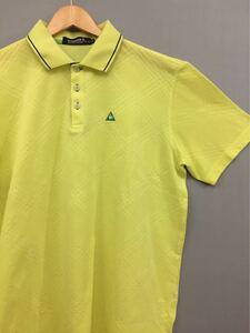 ルコック スポルティフ le coq sportif ゴルフ コレクション ドライポロシャツ ウェア 半袖 メンズ LLサイズ イエロー !★&