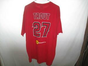 トラウト選手 Tシャツ ロサンゼルスエンジェルス MLB アメリカ大リーグ メジャーリーグ アナハイムエンゼルス カットソー 大谷翔平の同僚