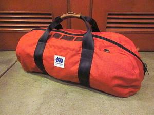 ビンテージ80's●MADDENナイロンボストンバッグ煉瓦色●200707s7-bag-bstnメデンアウトドア鞄カバンハンドバッグトラベル旅行古着