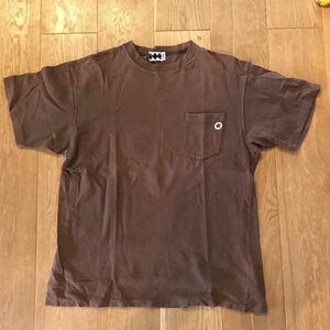 90's FINESSE×GOODENOUGH Pocket Tee size M フィネス グッドイナフ ポケット Tシャツ ポケT ブラウン 藤原ヒロシ