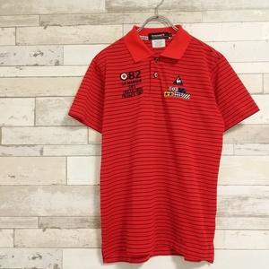 美品★le coq sportif GOLF ルコック スポルティフ ゴルフ ボーダー 半袖ポロシャツ
