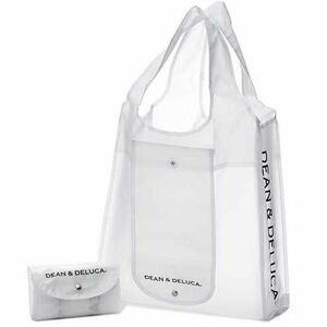 DEAN&DELUCA ショッピングバッグ クリア ディーンアンドデルーカ エコバッグ 限定 ホワイト ディーン&デルーカ 2020 dean deluca 完売品
