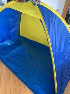 テント ブルーとイエロー ポップアップテント