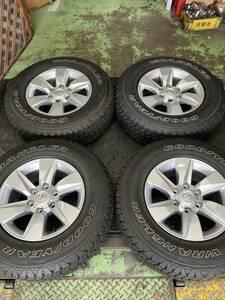 トヨタ 150系 プラド 後期純正 美品×グットイヤー ラングラー 9.5分山セット★17×7.5J IS25 PCD139.7-6H / 245/75R17 サーフ等