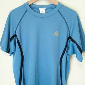 L【adidas/アディダス】MENS/メンズ 男性用 トップス 半袖 シャツ スポーツ ジム マラソン ランニング ジョギング トレーニング ブルー系