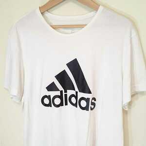XO/XXL【adidas/アディダス】MENS/メンズ 男性用 トップス 半袖 Tシャツ デカロゴ スポーツ ウェア マラソン トレーニング マラソン ジム