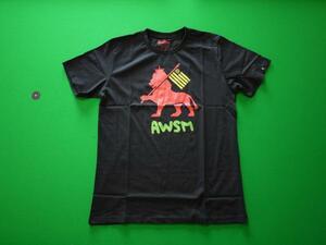 ...  [ AWSM ] LION FLAG T рубашка   размер S    цвет BLACK