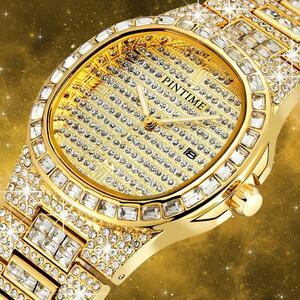 PINTIME 腕時計 メンズ クォーツ 日付 時計 男性 S1642
