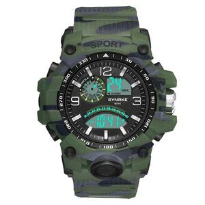 BUMVOR 腕時計 防水 時計 LED ウォッチ 男性 メンズ S1427