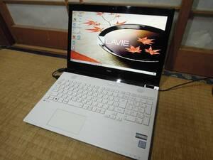 IPSフルHD液晶 ■第6世代Core i7 SSD搭載 NEC LAVIE NS700/C (Win10/i7-6500U_2.6GHz/SSD 240GB/8GB/BD/office2013) PC-NS700CAW 中古