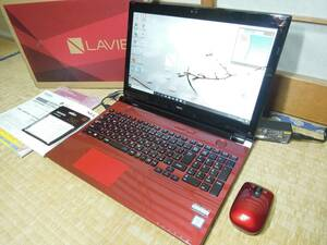 IPSフルHD液晶 ■第6世代Core i7 SSD搭載 NEC LAVIE NS700/D (Win10/i7-6500U_2.6GHz/SSD 240GB/8GB/BD/office2013) PC-NS700DAR 中古