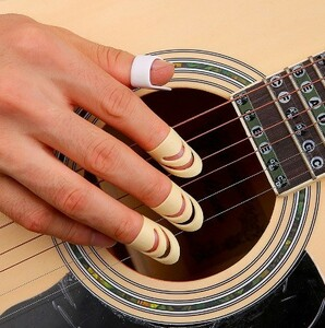 h767 個アラスカピックインデックス指ピックアコースティックギター弦楽器 M/L ギターアクセサリー