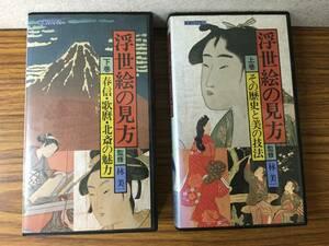 即決 VHSビデオ・浮世絵の見方・上下巻・林美一・ ・レターパックプラス可能です