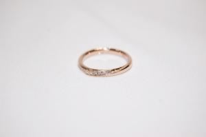 DISNEY ディズニー K18 ピンクゴールド ダイヤモンド リング 指輪 サイズ約7号 美品!