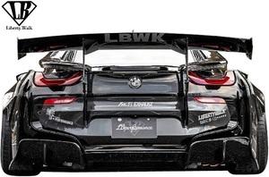 【M's】BMW i8 I12/I15 (2013y-) Liberty Walk LB-WORKS カーボン リアウイング Ver.1//CFRP製 リバティーウォーク エアロ GTウイング