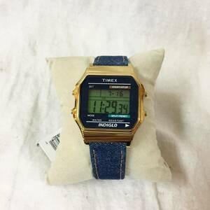 ●美品●TIMEX タイメックス クラシック デジタル 腕時計 メンズ腕時計 TW2P77000 メンズ レディース デニム ブルー