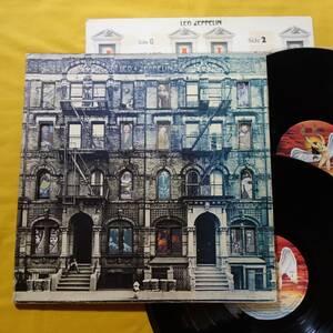 ロック LP 2枚組 レッド・ツェッペリン Led Zeppelin / フィジカル・グラフィティ 1975年 国内盤 P-5163N ライナー欠 レコード アナログ