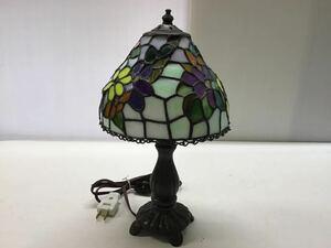 アンティーク調 テーブルライト ステンドグラス 高さ32cm 花柄 卓上ランプ ガラスシェード ナイトランプ 照明