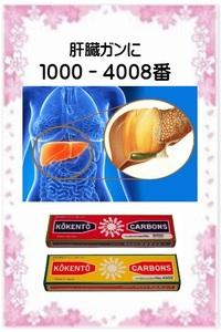 ☆肝臓がんに:光線治療器 コウケントー 光線治療器用治療用カーボン 1000番・4008番 各10本 合計20本 新品です