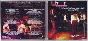 Led Zeppelin - Live At The Royal Albert Hall January 1970 ボーナス・トラック4曲収録二枚組CD