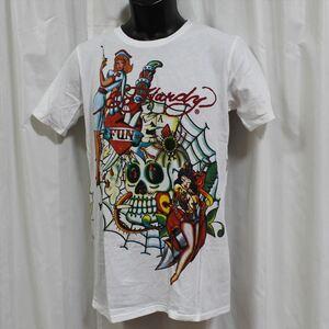 エドハーディー Ed Hardy メンズ半袖Tシャツ ホワイト Mサイズ TH558 新品 白