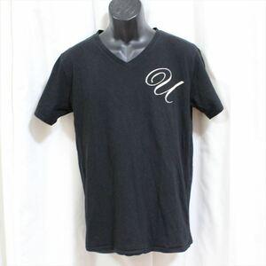 エドハーディー ED HARDY メンズ半袖VネックTシャツ ブラック Lサイズ 新品 黒