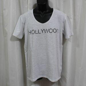 エドハーディー ED HARDY メンズ半袖Tシャツ ホワイト Lサイズ US052 新品 白 HOLLYWOOD